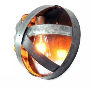 ATOM Collection - Arc -  Wine Barrel Ring Sconce / made from reclaimed Napa wine barrel rings - 100% Recycled!