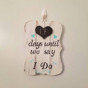 Rustic Wedding Countdown Sign