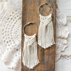 Sun & Sand Macrame Earrings - Boho Earrings - Cotton Earrings - Natural Earrings - Macrame Jewelry - MADE TO ORDER