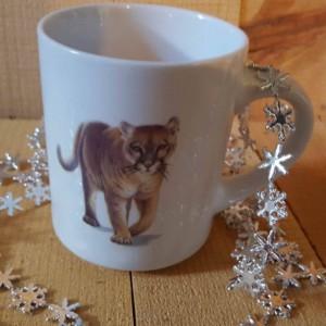 8 oz Coffee Mug, Cougar