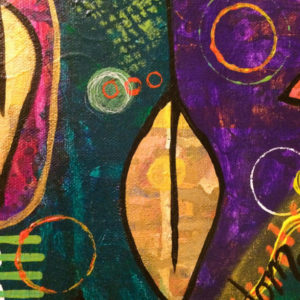 Abstract Acrylic Intuitive Nature Painting