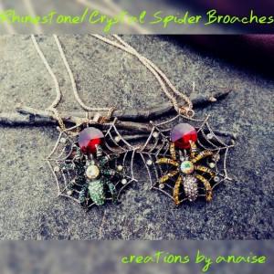 Spider Web Pendants