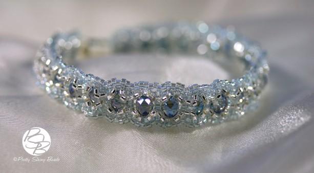 Blue & Silver Woven Bracelet