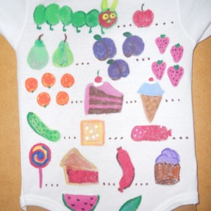 Very Hungry Caterpillar Hand Painted Onesie/Bodysuit