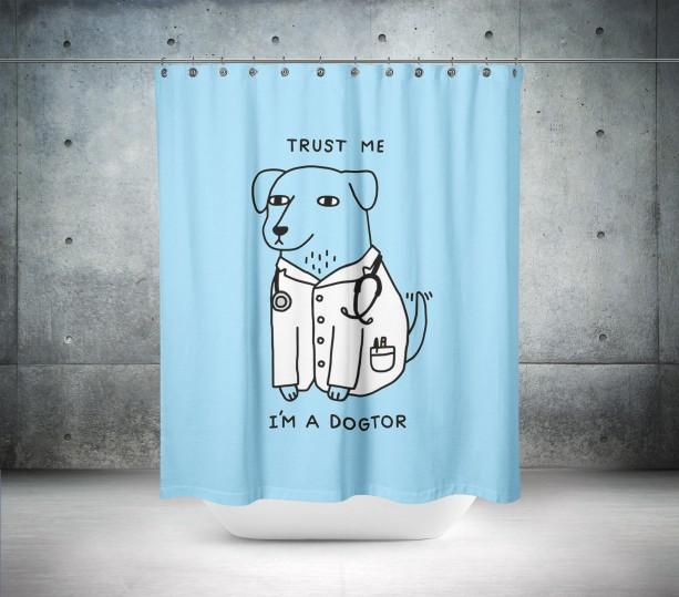 Meet The Dogtor Shower Curtain