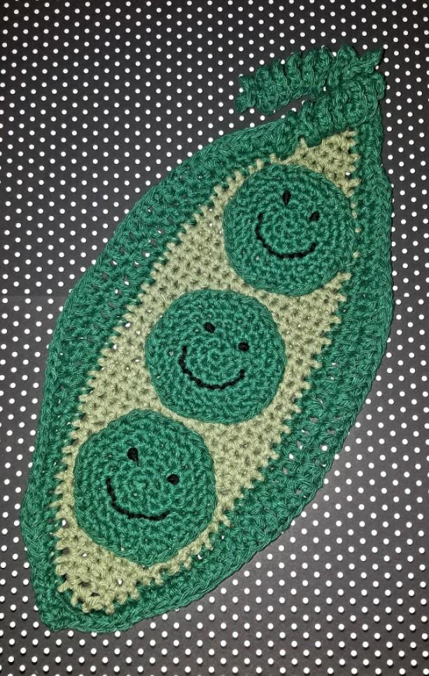 Peas in a Pod Dishcloth