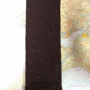 brown sparkle: handwoven scarf