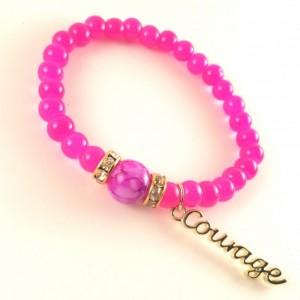 Breast Cancer awareness pink courage bracelet