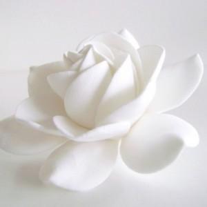 Gardenia Hair Clips Bridal Hair Accessories Wedding Hair Flower Handmade Clay Gardenia