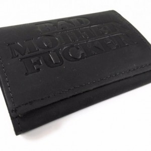 Basic Trifold Wallet, Mature, Bad Mother F*cker Mens, Genuine Leather, Mens Wallet, Durable Wallet, Made in USA,Mens Trifold Wallet Leather