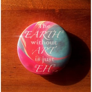 """(Set of 2) Button Magnet 2.25"""" Art Quote Play on Words kitchen & refrigerator decor"""
