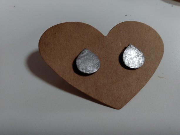 Meteorite earrings Sterling silver studs.
