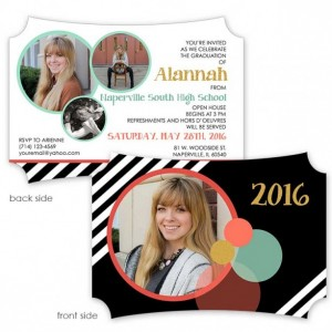 Bauble Up 5x7H Graduation Invitation