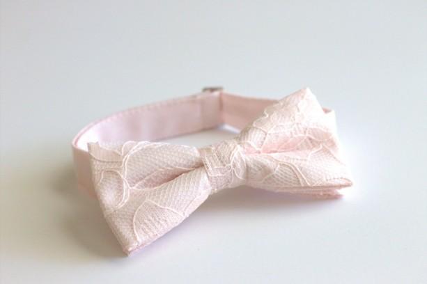 c199156e1312 ... Blush Men's Bow Tie - Blush Pink Lace Bow Tie - Blush Bow Tie - Light