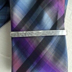 Personalized Hidden Message Tie Clip