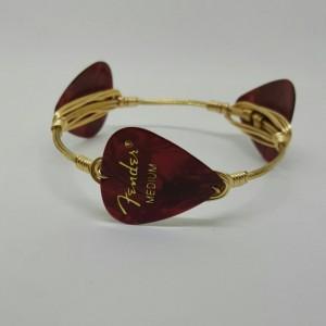 Guitar pick bracelet, Handmade bangles, Birthday gift, Made in America, Gifts for her