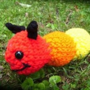 Mr. Wiggles the Amigurumi Caterpiller Crochet plush toy
