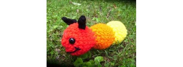 Mr. Wiggles the Amigurumi Caterpiller Crochet plush toy