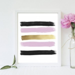Pink, Black, and Gold Swatch Print - 8x10
