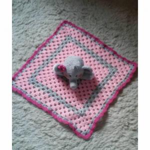 Elephant Lovey Baby Blanket, Comfort Blanket, Security Blanket, Baby Blanket, Baby Shower Gift
