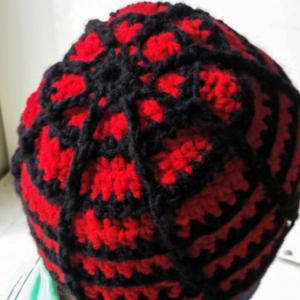 Spider Web style beanie hat