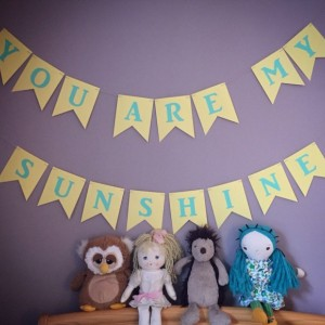 You Are My Sunshine Banner - Baby Shower Decoration - You Are My Sunshine Birthday - You Are My Sunshine Party - 1st Birthday Party