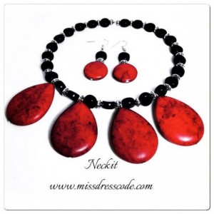 Teardrop Stone Statement Jewelry Set