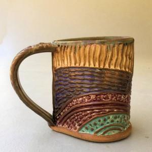 Dragonfly Pottery Mug Coffee Mug Hand Built Stoneware Microwave and Dishwasher Safe
