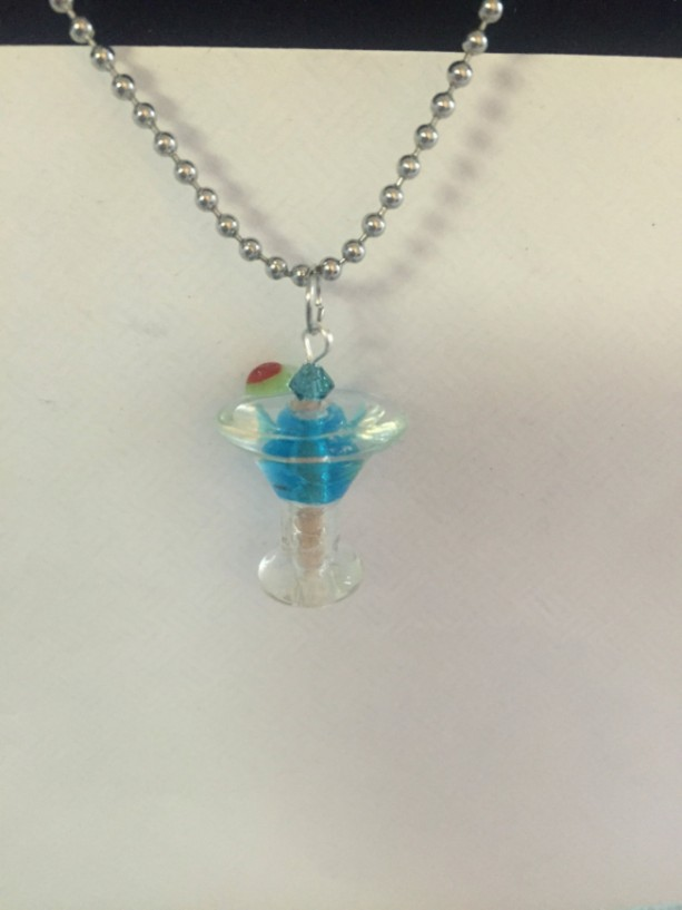 Glass Cocktail Necklace