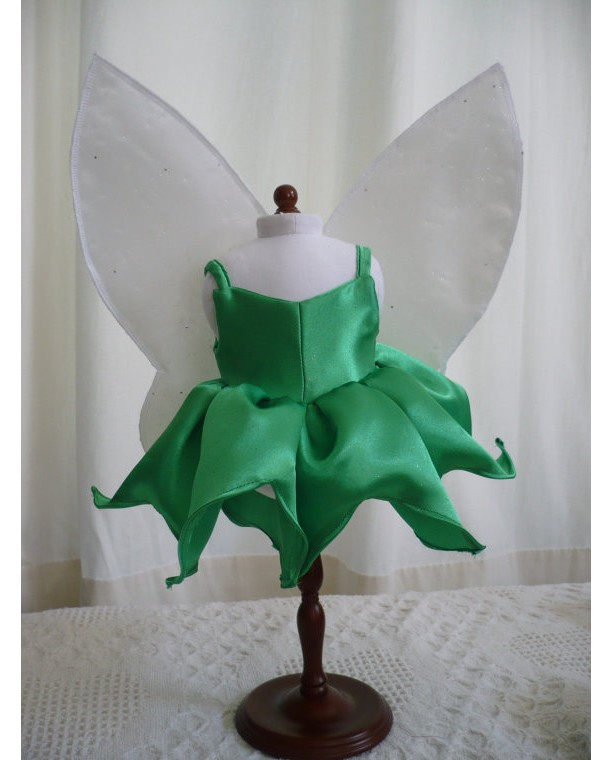 "Tinker Bell Dress and Wings for 18"" Doll"