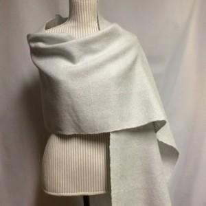silver grey: handwoven wool blend wrap