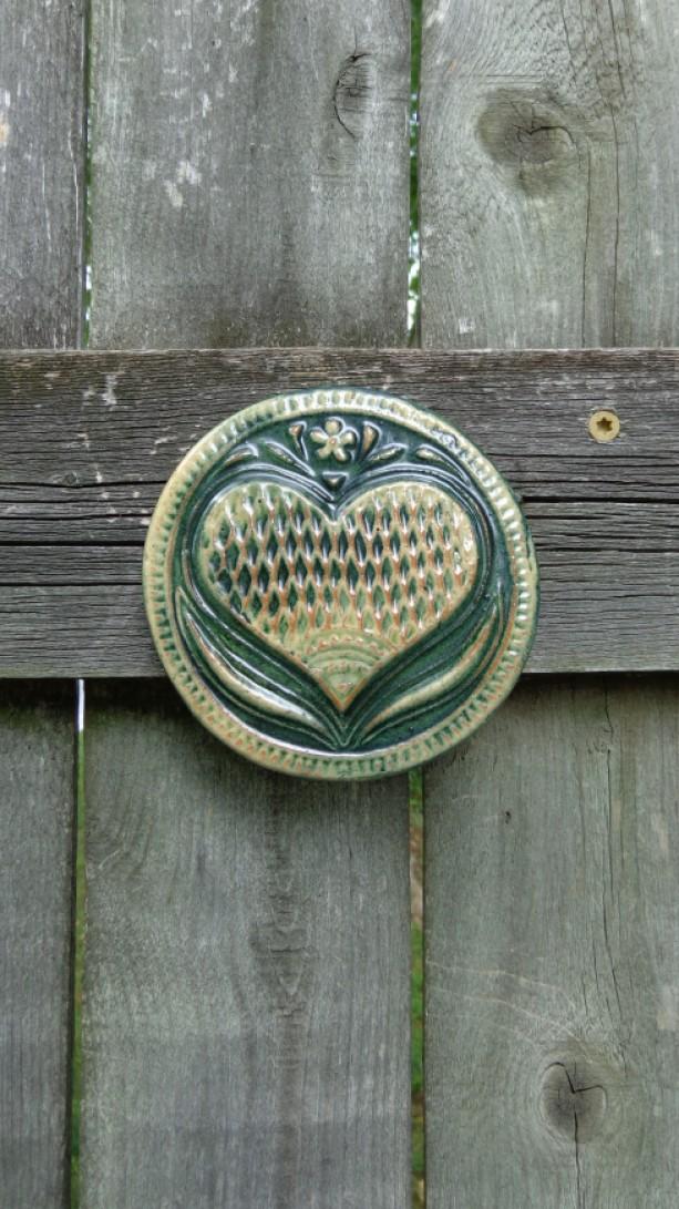 Heart  Tile, Green