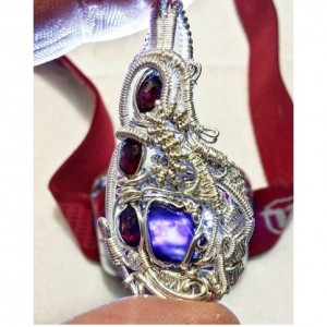 Rhodolite Garnet and Grape Jelly Amethyst mini pendant