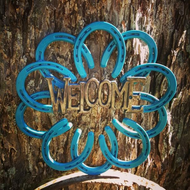 Rustic Horseshoe Welcome Wreath Welcome Homedecor