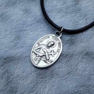 Personalized Saint Gerard Necklace. Patron Saint of Expectant Mothers and Motherhood