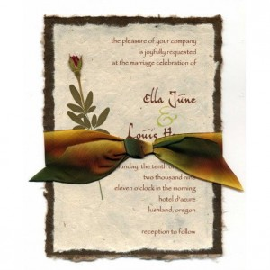 Custom Invitation - Wedding - Invitations - Pressed Flowers - Set of 25