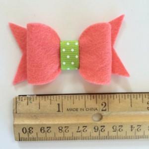 Toddler hair bowset , baby hair accessories, felt hair bows, pink bow, watermelon bow, no slip clip
