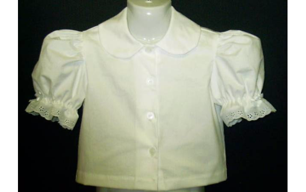 NEW Handmade Girl Eyelet Trimmed Blouse Custom Sz 12M-8yrs (other color available)