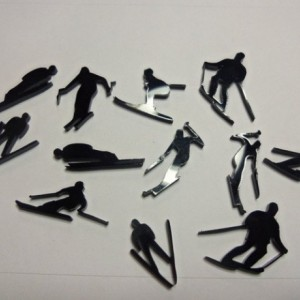 ski charm,skiing charms, sport charms,laser cut charms
