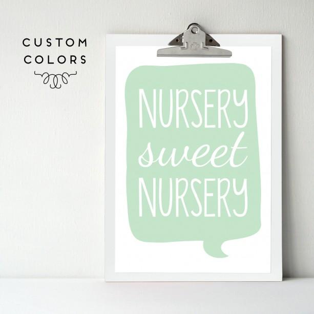 Nursery Art Print Sweet Newborn Wall Decor Poster Baby S