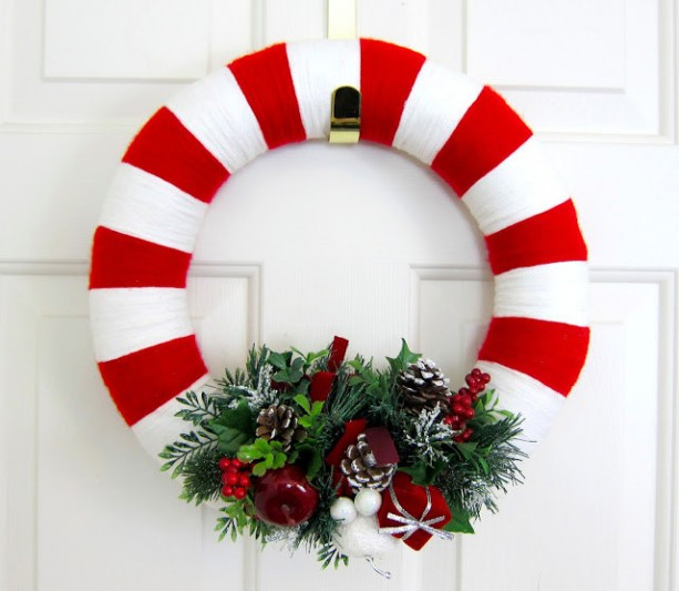 Wrapped Holiday Wreath