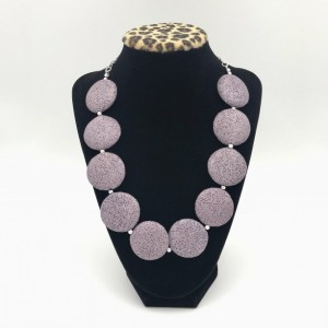 Chunky Rose Brown Lava Statement Necklace, Chunky Necklace, Purple Lava Necklace, Natural Lava Necklace, Lava Statement Necklace