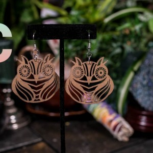 Cute Chipboard Owl Earrings