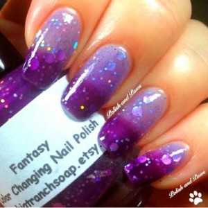 "Color Changing Thermal Nail Polish - ""FANTASY"" - Temperature Changing - Custom Blended Polish/Lacquer - 0.5 oz Full Sized Bottle"