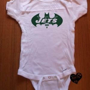 NY Jets Bat Baby Onesies, Custom Onesies, Baby shower gift, Christmas Gift, Boy Bat, Bat Girl, Batcave