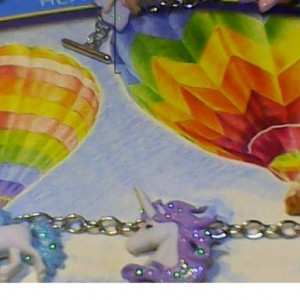 Unicorn bracelet. Pink, Blue, Purple, White, Perfect gift for a girl that loves unicorns.