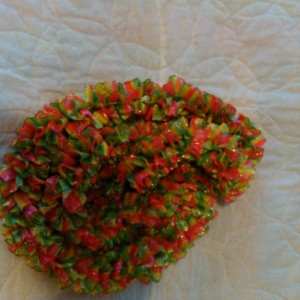 Candy color ribbon scarf
