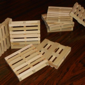 Set of 4 Miniature Pallet Coasters
