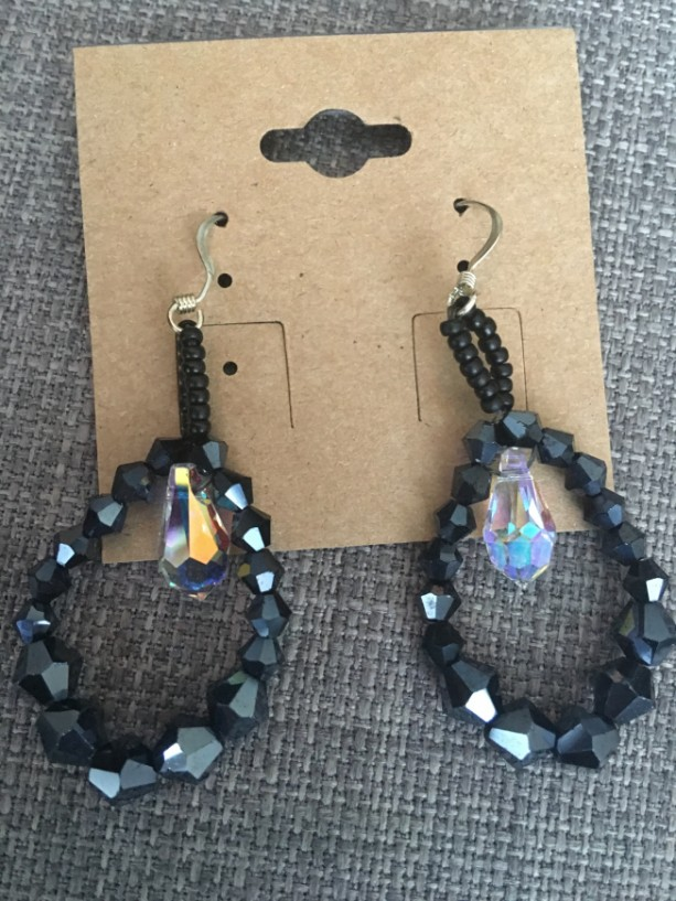 Ebony Teardrop Earrings
