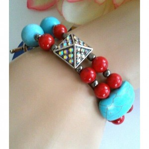 Casablanca - Double Strand Beaded Retro Style Bracelet ~ Retro Rockabilly Style Inspired ~ Retro Chic ~ Gift for Her